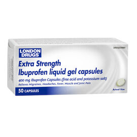London Drugs Extra Strength Ibuprofen Liquid Gel Caps - 400mg - 50's