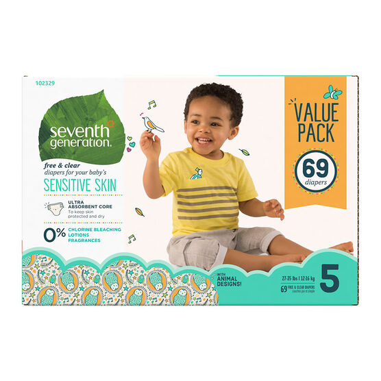 7th Generation Diapers - Stage 5 - 69s