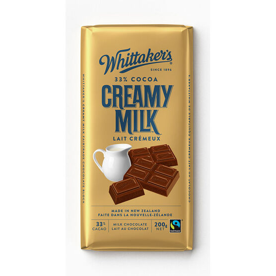 Whittaker's Milk Chocolate - Creamy Milk - 200g