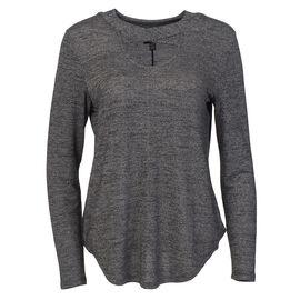 Lava V Neck Shirt with Criss Cross Collar - Black - Assorted