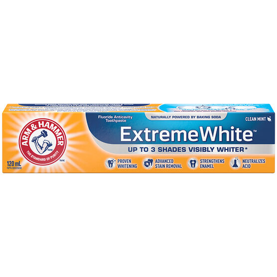Arm & Hammer Advance White Extreme Whitening Toothpaste - Fresh Mint - 120ml