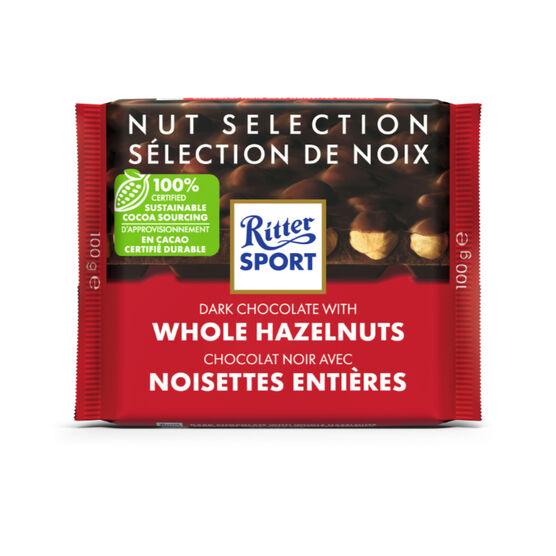 Ritter Sport - Dark Chocolate with Whole Hazelnuts - 100g
