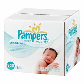 Pampers Wipes - Sensitive - 320's