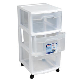 Sterilite 3 Drawer Cart - White