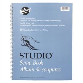 Hilroy Studio Scrapbook - 11 x 14 inch - 20 sheets
