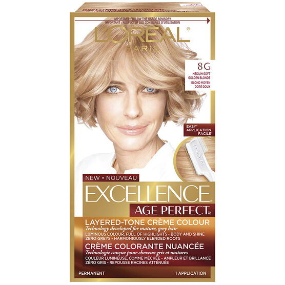 loreal excellence age perfect creme colour 8g medium