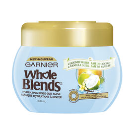 Garnier Whole Blends Hydrating Rinse-Out Mask - Coconut Water & Vanilla Milk - 300ml