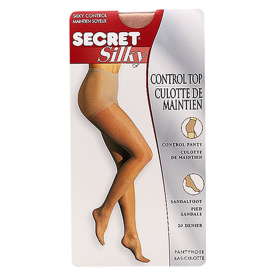 Secret Silky Control Top Sandal Foot - D - Nude