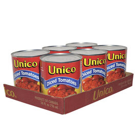 Unico Diced Tomatoes - 6 x 796ml