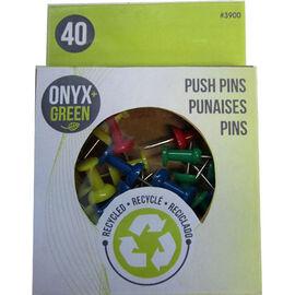 Onyx Green Push Pins - 40's