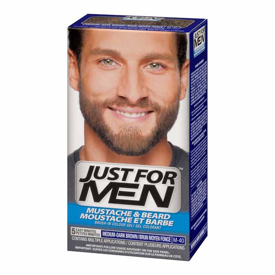 Just for Men Mustache and Beard Facial Hair Colouring - Medium ...