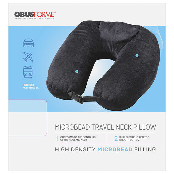 ObusForme Microbead Travel Neck Pillow - PL-MTP-BK