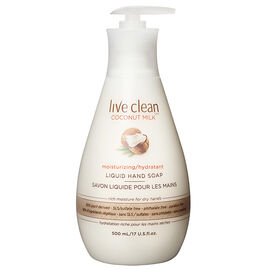 Live Clean Moisturizing Liquid Hand Soap - Coconut Milk - 500ml