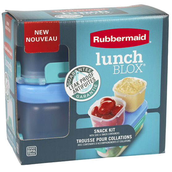 Rubbermaid LunchBlox - Snack Pack - Assorted - 4 piece