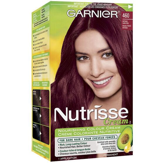 Garnier Nutrisse Cream Permanent Hair Colour - 460 Intense Dark ...
