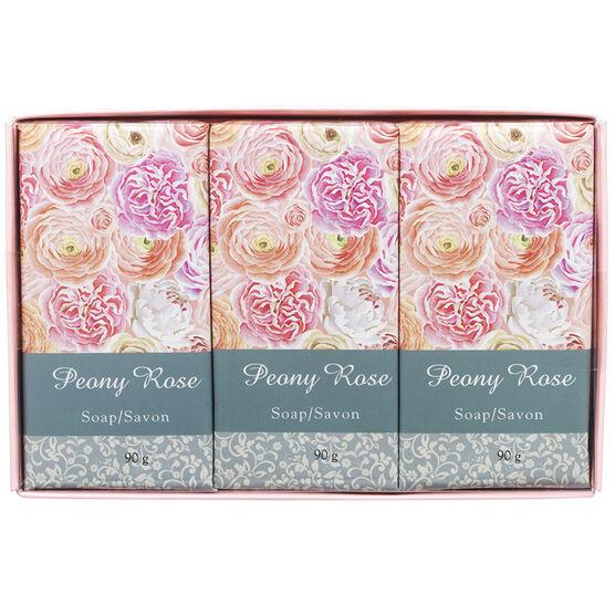 Peony Rose Soap Set - 3 x 90g