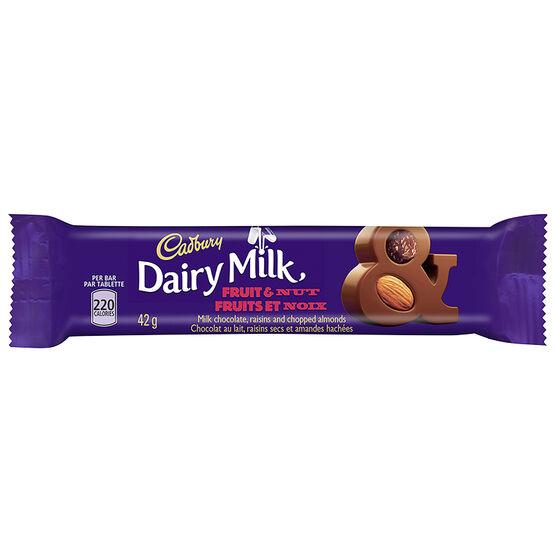 Cadbury Fruit & Nut Bar - 42g
