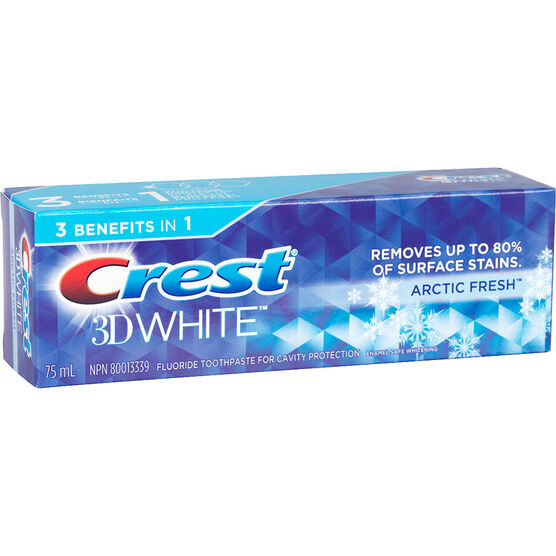 Crest 3D White Toothpaste - Arctic Fire - 75ml