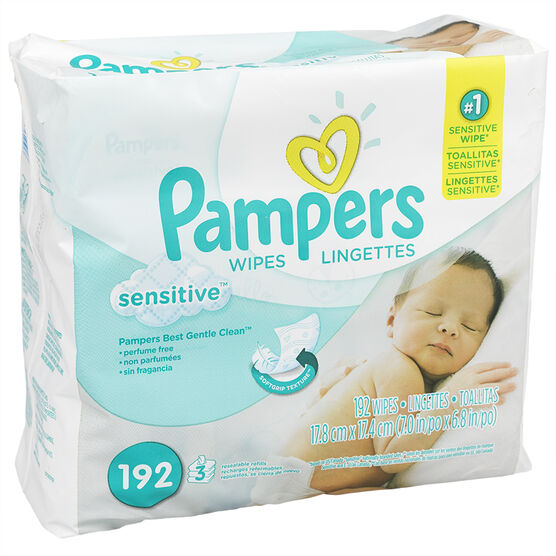 Pampers Sensitive Wipes Refills - 192's