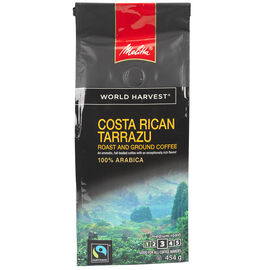 Melitta World Harvest Coffee - Costa Rican Tarrazu Medium Roast - Organic Ground - 454g