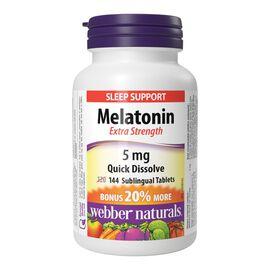 Webber Naturals Melatonin Extra Strength 5mg Sublingual Tablets - 120's
