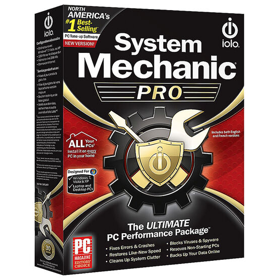 Iolo System Mechanic Pro - Unlimited PCs in one home