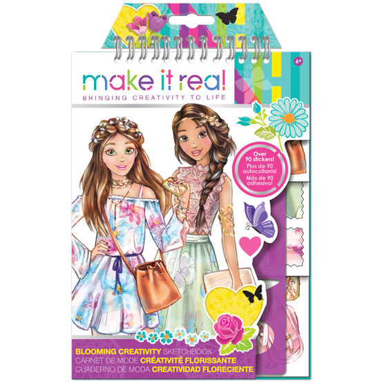Make It Real Fashion Design Sketchbook - Blooming Creativity