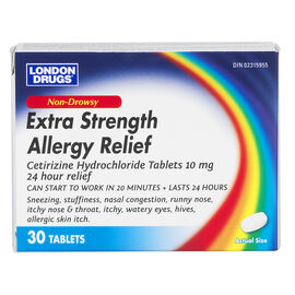 London Drugs Extra Strength Non Drowsy Allergy Relief - 10mg - 30's