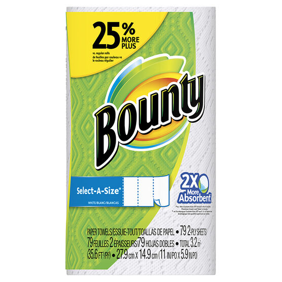 Bounty Towels Select A Size - 1 Large Roll