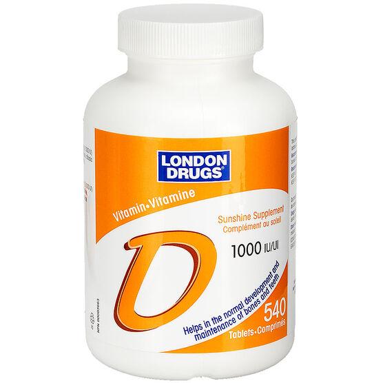 London Drugs Vitamin D 1000iu - 540's
