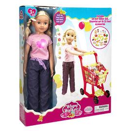 Whisper Walker Doll with Shopping Cart