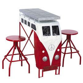 Van Metal Table with Stools