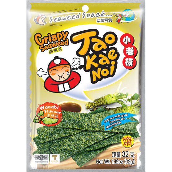 Taokaenoi Seaweed - Wasabi - 32g