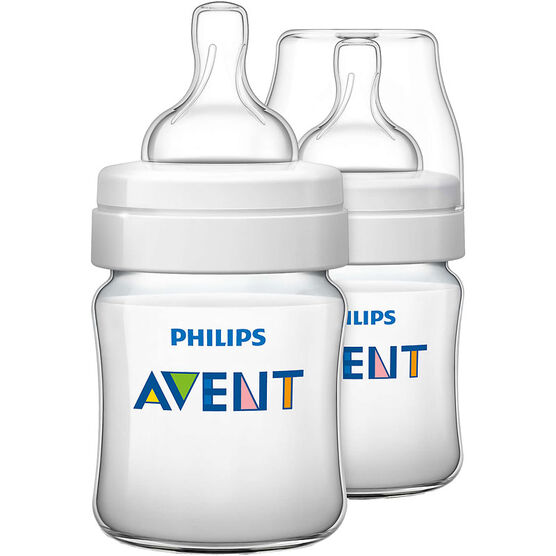 Avent Classic Plus Baby Bottles - 2 x 125ml
