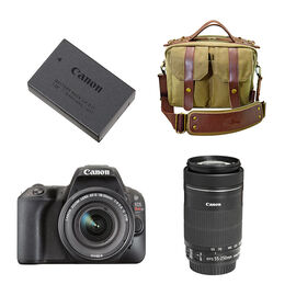 Canon EOS Rebel SL2 2 Lens Kit with Bag and Battery - PKG #97135