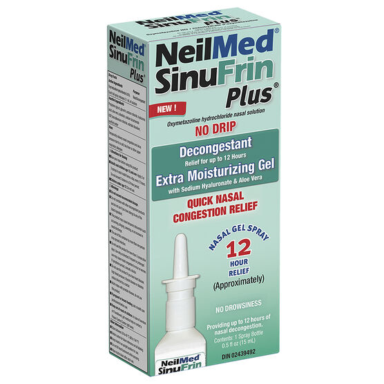 NeilMed SinuFrin Plus Decongestant Moisturizing Gel Spray - 15ml