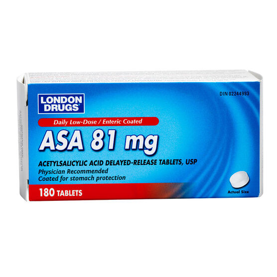 London Drugs ASA Daily - Low-Dose 81mg - 180's