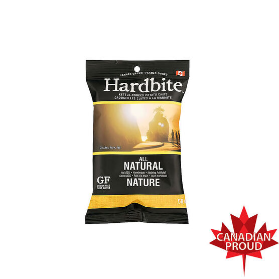 Hardbite Kettle-Cooked Potato Chips - All Natural - 50g