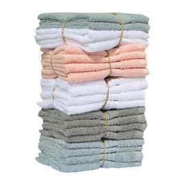 Organic Face Cloths - 4 pack - Assorted