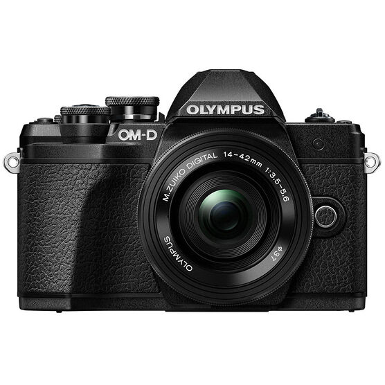 Olympus OM-D E-M10 Mark III with 14-42mm EZ Lens - Black -  V207072BU020