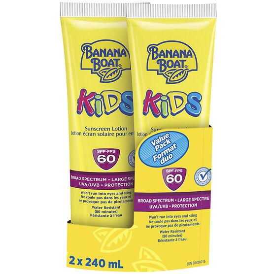 Banana Boat Kids Sunscreen Lotion - SPF60 - 2 x 240ml