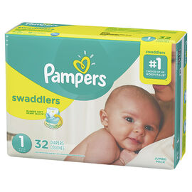 Pampers Swaddlers Diapers - Size 1 - 32's