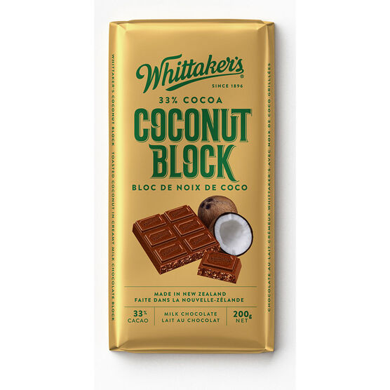 Whittakers Milk Chocolate - Coconut - 200g