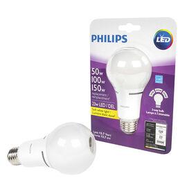 Philips LED A21 Three way Lightbulb - Soft White - 150w