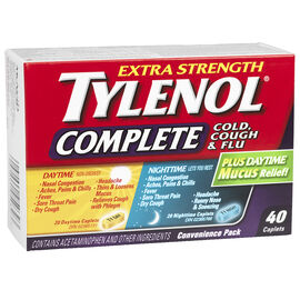 Tylenol* Complete Day & Night Cold, Cough & Flu - 40's