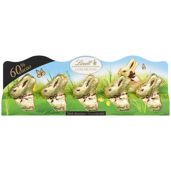 Lindt Mini Dark Bunnies - 5 pack/50g