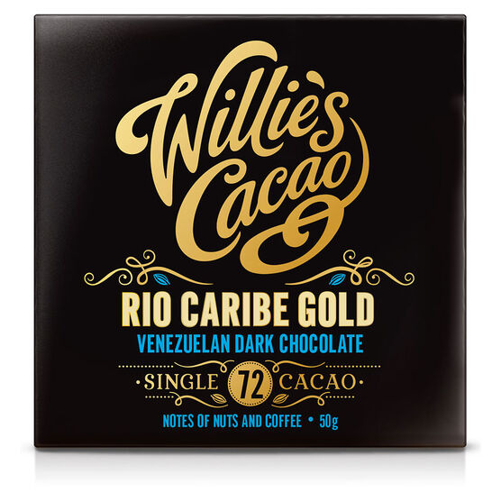Willie's Cacao Chocolate Bar - Rio Caribe Gold - 50g