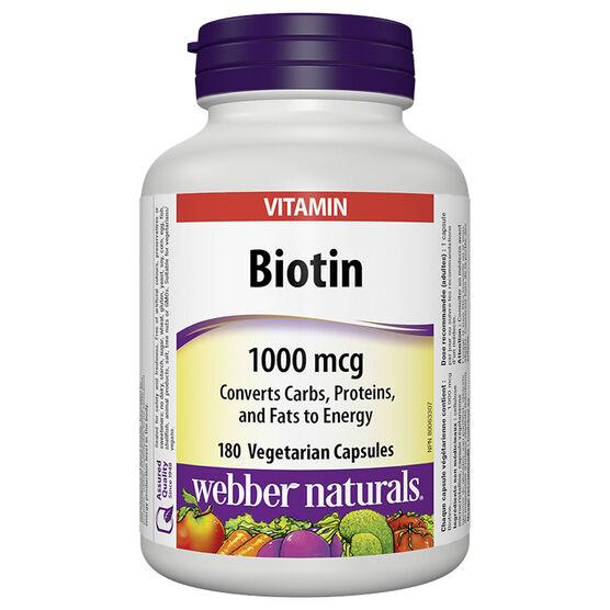 Webber Biotin - 1000mcg - 180's