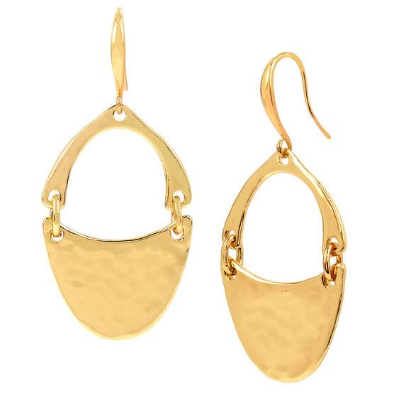 Robert Lee Morris Shiny Oval Drop Earrings - Gold