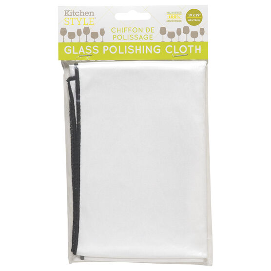 Kitchen Style Glass Polishing Cloth - 19 x 29in